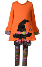 Bonnie Jean Girl Halloween Witch Hat Tunic And Legging
