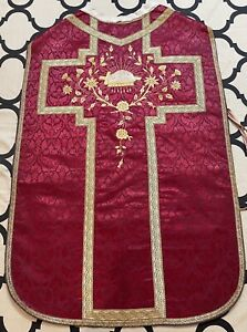 Antique French Church Vestment Chasuble Priest