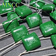 100V 2A22J~2A474J 220pF~470nF Mylar Polyester Capacitor Green Caps Full Range