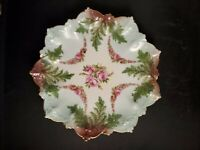 Antique M Z Austria  Hand painted plate with roses