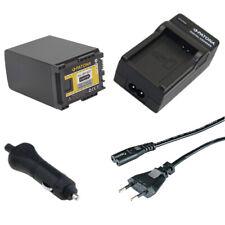 Batteria Patona + caricabatteria casa/auto per Canon Legria HF G25,HF M30