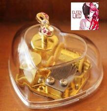 Transparent Heart Shape Ribbon Wind Up Music Box : Elfen Lied - Lilium
