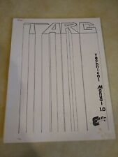 Exidy Targ Arcade Manual