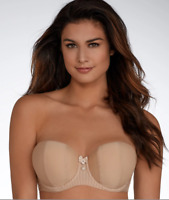 CURVY KATE BISCOTTI LUXE STRAPLESS BRA, SIZE US 34G, NWOT