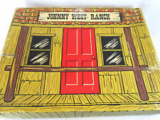 Vintage 1970s Johnny West Ranch play set by Marx fold open box w/fences
