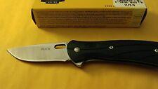 BUCK KNIFE VANTAGE SELECT 420HC PLAIN EDGE BLACK FOLDING KNIFE 340BKS MADE IN US