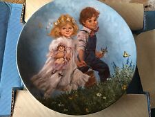 """Bradex 1986 Decorative Plate """"Jack & Jill"""" 8th issue in Mother Goose Series."""