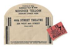 "Ethel Merman ""DU BARRY WAS A LADY"" Cole Porter / Bert Lahr 1939 Ticket Stub"
