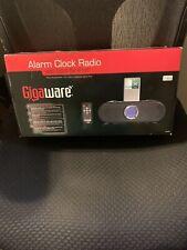 Gigaware Alarm Clock Radio W/ Ipod Dock Box & Remote