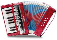 Kinder Akkordeon 8-Bass - 17 Noten tasten, Ziehharmonika Accordion Schultergurt