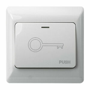 Visionis VIS-7030 Indoor Wide White Push to Exit Button