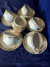 VTG QUEEN ANNE SIGNATURE COLLECTION FINE CHINA  5 CUPS & SAUCERS & CREAMER JAPAN
