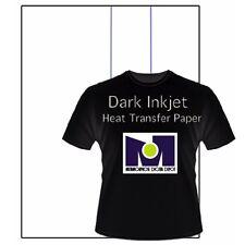 Heat Transfer Paper/Inkjet Printer  Dark/t shirt iron on Heat press 8.5x11 10Sh