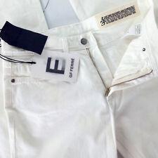 G.Ferrè jeans donna bianco taglia 42 bootcut vita medio RRP € 240