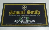 NEW SAMUEL SMITH 17 INCH RUBBER BACKED BAR RUNNER BEER MAT - PUB BAR MAN CAVE