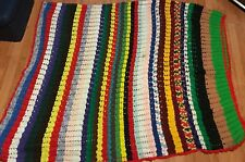 "Vintage Hamdmade Afgan Blanket 114""x69"""