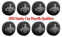 2020 Stanley Cup Playoffs Qualifiers Dueling 8 Hockey Puck PKG - NEW