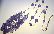 Pretty Lucite Chunky Lilac Orbs Necklace
