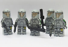 Custom Domino Squad star wars minifigures clone trooper on lego bricks