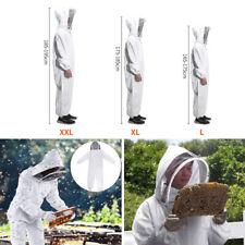 New Beekeeping Suit Kit Heavy Duty Jacket Veil Gloves Bee XXL Size White