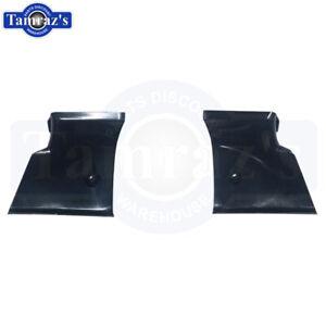 1968-1972 Chevy II Nova Rear Package Tray Corner Trim Pair Black Plastic