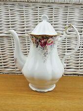 VINTAGE BONE CHINA Shabby Chic Queen Anne ESTATE Rose Tea Pot CAFFETTIERA