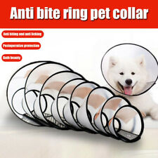 Cat Dog Plastic Comfy Cone Collar Pet Bathing Recovery Anti-Bite Protector Cover