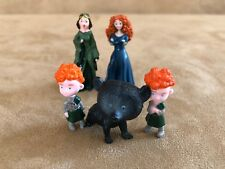 Brave Disney PVC Merida triplets mother action figure lot cake topper