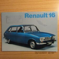 RENAULT 16 R1151 R1152 R1153 R1154 L TL TS UK Market Car Brochure 1972-1973