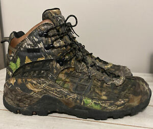 Cabela's Boots 81-2525 Dry Plus Thinsulate 14EE Real Tree Camo Hunting EUC
