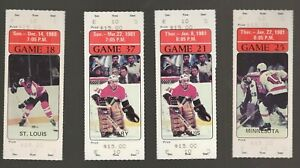 14 Philadelphia Flyers unused picture tickets 1980-81, including Pelle Lindbergh