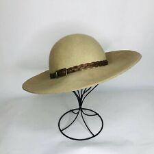 Kathy Jeanne Women's Brown 100% Felt Wool Hat  Vintage