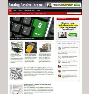EARNING PASSIVE INCOME BLOG WEBSITE WITH AFFILIATES AND NEWDOMAIN & HOSTING