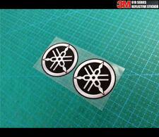 2 Pics Small YAMAHA logo Motobike Reflective sticker_50 mm x 50 mm each
