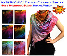 NEW! NYFASHION101® Elegant Colorful Paisley Soft Pashmina Scarf Shawl Wrap
