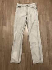 Vintage Lee Riders USA Made Bootcut Jeans Pants White Mens 32x34