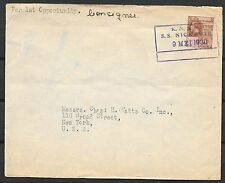 British Guiana covers 1930 Shipcover KNSM SS Nickerie to New York