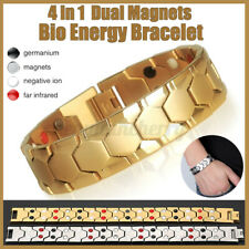 Mens Titanium Magnetic Bracelet Super Strong Anion Energy Therapy Bio Arthritis