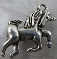 Free shipping 30//60pcs auspicious Tibet silver unicorn charms pendant 18x18mm
