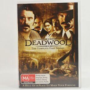 Deadwood Season 1 Western TV Series Drama DVD R4 Good Condition
