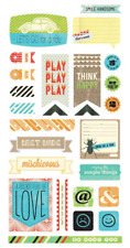 Basic Grey Title Cardstock Stickers Knee High Bow Ties Boys, Scrapbooking