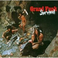 GRAND FUNK RAILROAD - SURVIVAL (REMASTERED)  CD 12 TRACKS HARD/BLUES ROCK NEUF
