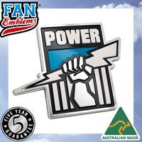 Fan Emblems Port Adelaide Power 3D Chrome AFL Supporter Badge