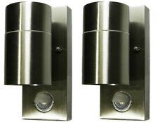 2x PIR Motion Sensor Garden LED Down Exterior GU10 Lamp Spot Wall Security Light