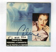CD SINGLE (NEW) CELINE DION BECAUSE YOU LOVED ME