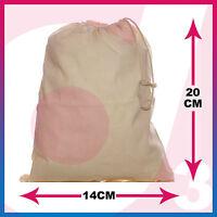 100% Cotton Plain Drawstring Bags - Xmas Sack / Stocking - Storage / Laundry Bag