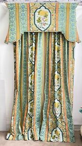 Vintage Custom Cornice Boards, Drapes & Comforter 7pc Set
