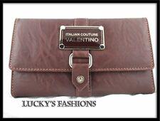 E1 Wallet Clutch Brown Credit Card Checkbook