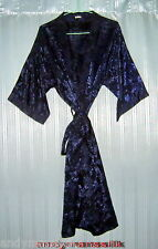 Thai Silk Kimono / Robe / Dressing Gown / Dark Blue