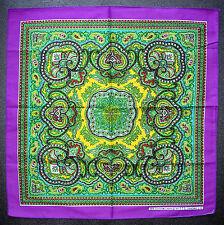 Paisley Style BANDANNA Head Scarf Handkerchief Purple Multi Coloured Neck Scarf